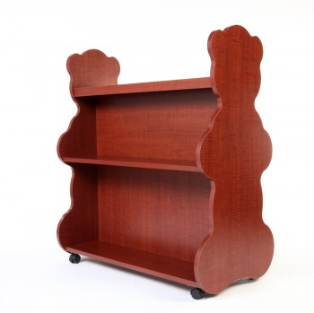 Mobile Double Sided Bookcase Bear Cherry