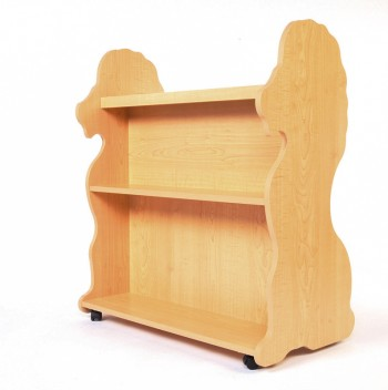 Mobile Double Sided Bookcase Lion Natural Maple
